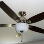 Ceiling fan with brushed nickel finish