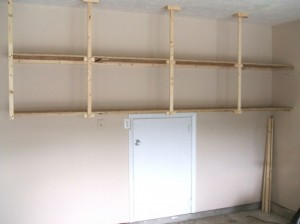 garage shelving made of wood