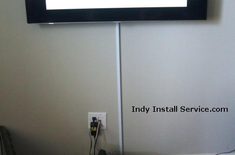 hiding wires from the TV with surface mounted channel