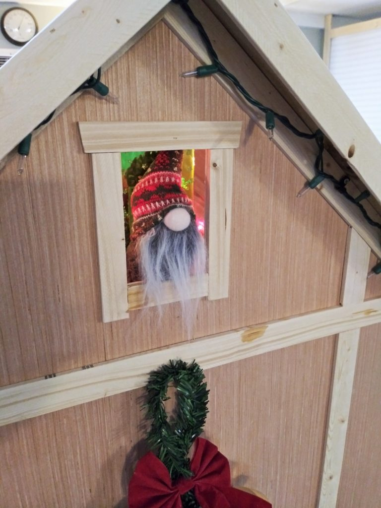 Gnome in Christmas play house